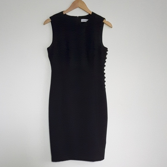 ad34ddd1c401 Calvin Klein Dresses | Black Sleeveless Shift Dress Size 4 | Poshmark